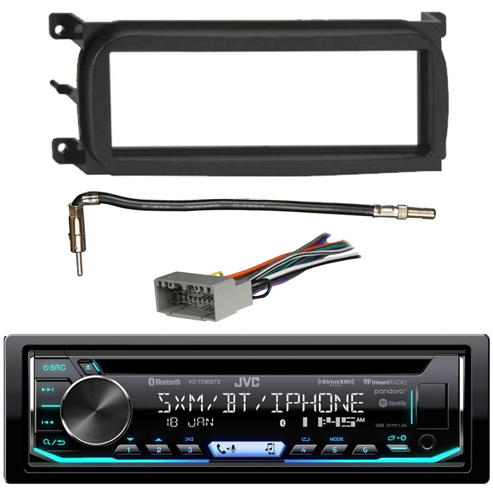 hight resolution of the installation kit allows easy mounting of your single din radio in select 1998 2009 chrysler dodge jeep and plymouth vehicles