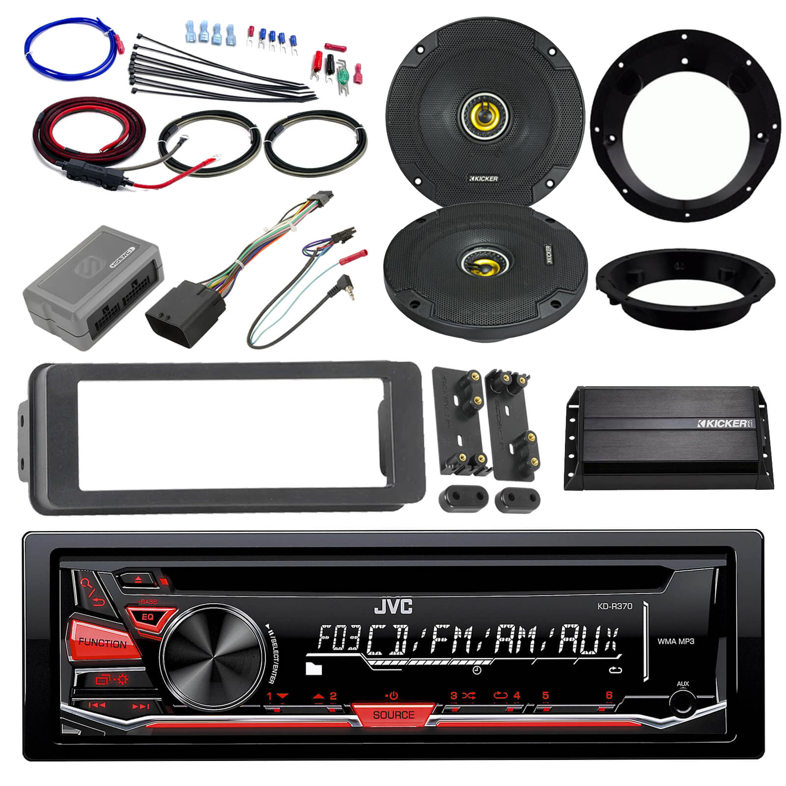 hight resolution of  please check the compatibility chart to determine if this will work for your vehicle note rear speakers must have separate wires run from the radio to