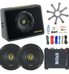 details about kicker 10 car sub box enrock 18 g 50 ft wire 6 5 speakers boss amp grill [ 1600 x 1600 Pixel ]