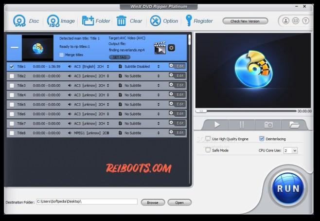 WinX DVD Ripper Platinum Serial Key 8.20.2 Version With Full Crack