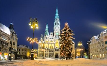 Reichenberger Rathaus im Winter