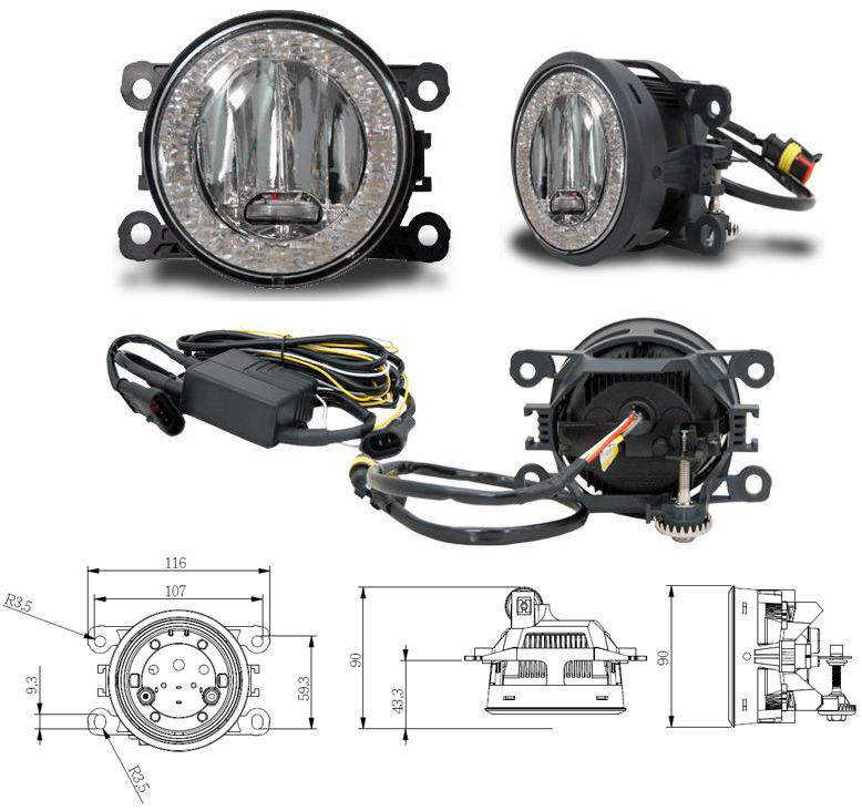 LED Tagfahrlicht + Nebelscheinwerfer Tagfahrleuchten Opel