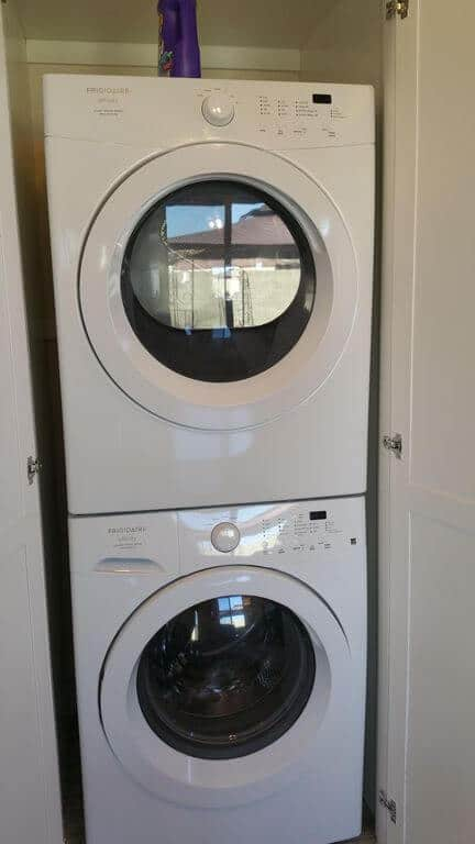 Full Size Stacked Washer and Dryer