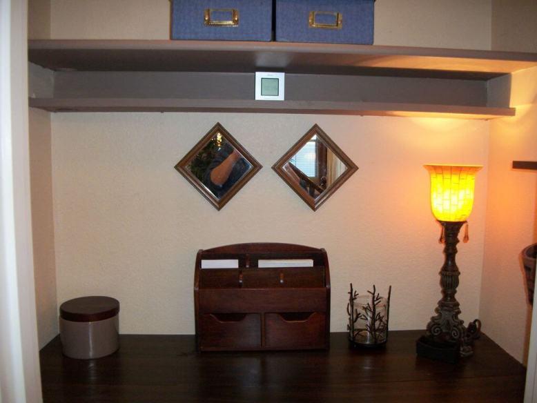 Office closet cubby area