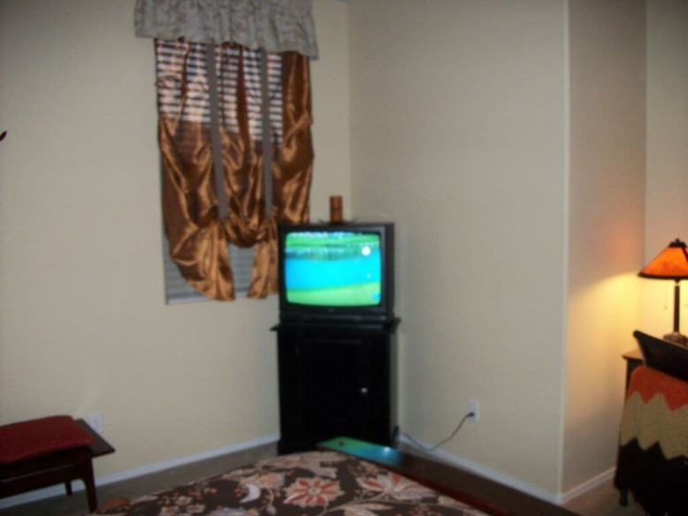 Master Bedroom with 27inch TV