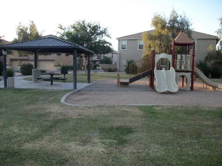 Park area with grills and ramada