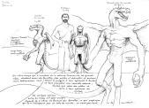 Draconide mâle : échelle comparative