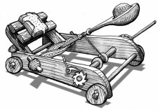 Une catapulte antique pour Pidapi V6