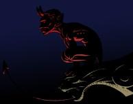 Diable du Pont Valentré - couleurs numériques