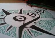 "calligraphie ""Bonne Année 2016"" : making of (1)"