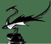 Dragon incendiaire, détourage après vectorisation