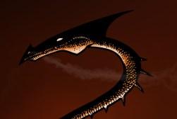 Dragon incendiaire , détail du rendu final