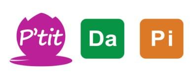 Pidapi : le logo pour P'tit Dapi en 3 couleurs
