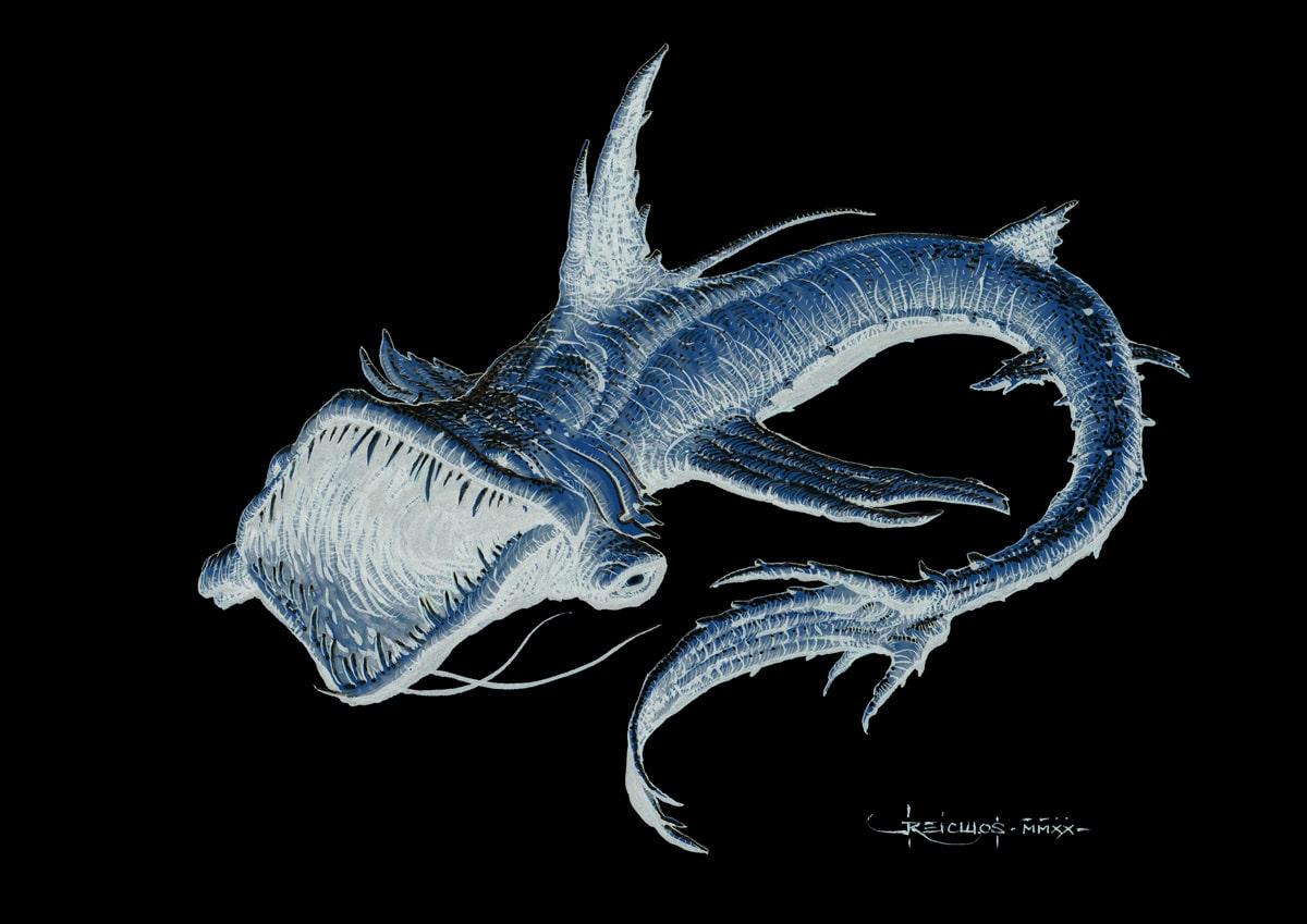 Dragon des Abysses - rendu négatif