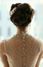 button up back lace