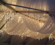 fairy lights and fabric