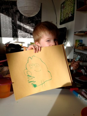 Reid's first drawing of Bron