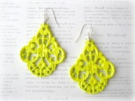 Beautiful yellow earrings