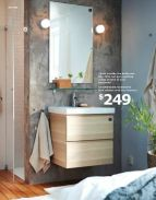 Ikea in bathrooms - practical and inexpensive (LOVE that concrete-look wallpaper too)