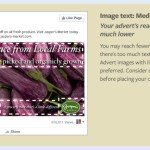 Facebook Advertising Text requirements, image text