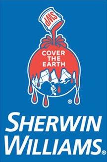 Cheap logo design: Sherwin WIlliams Covers the Earth Logo