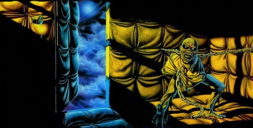 Iron Maiden Piece of Mind album cover by Derek Riggs