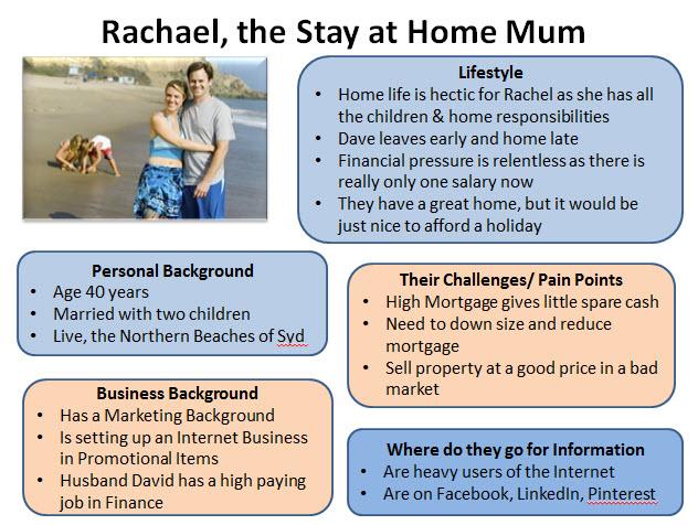 Customer Persona B2C Rachael Stay at Home Mom