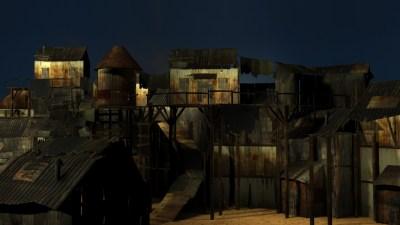 Shanty Town | 3D ART BY TIMOTHY REID WOODS