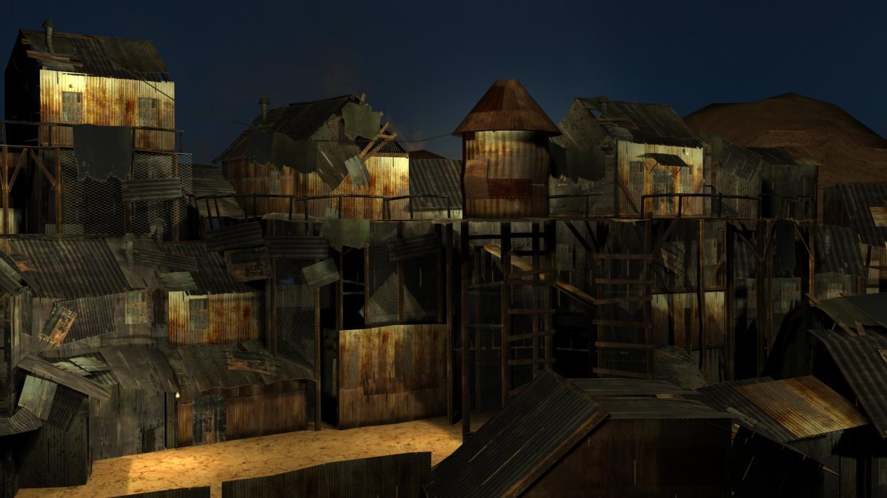Shanty Town  3D ART BY TIMOTHY REID WOODS