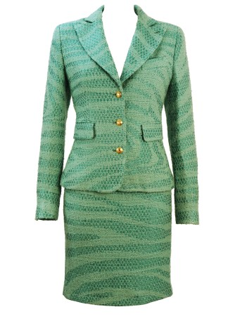 Roberto Cavalli Two Tone Light Blue Skirt   Jacket Suit with Gold Buttons –  S 74f146f66