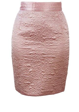 97019cc3a8c98e Textured Baby Pink Silky Mini Pencil Skirt – XS S