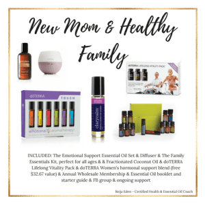 new mom and healthy family essential oil kit