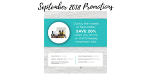 September 2018 doterra Promotions