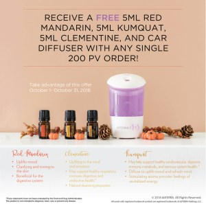 doterra october 2018 promotion