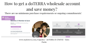 how to get doterra wholesale account