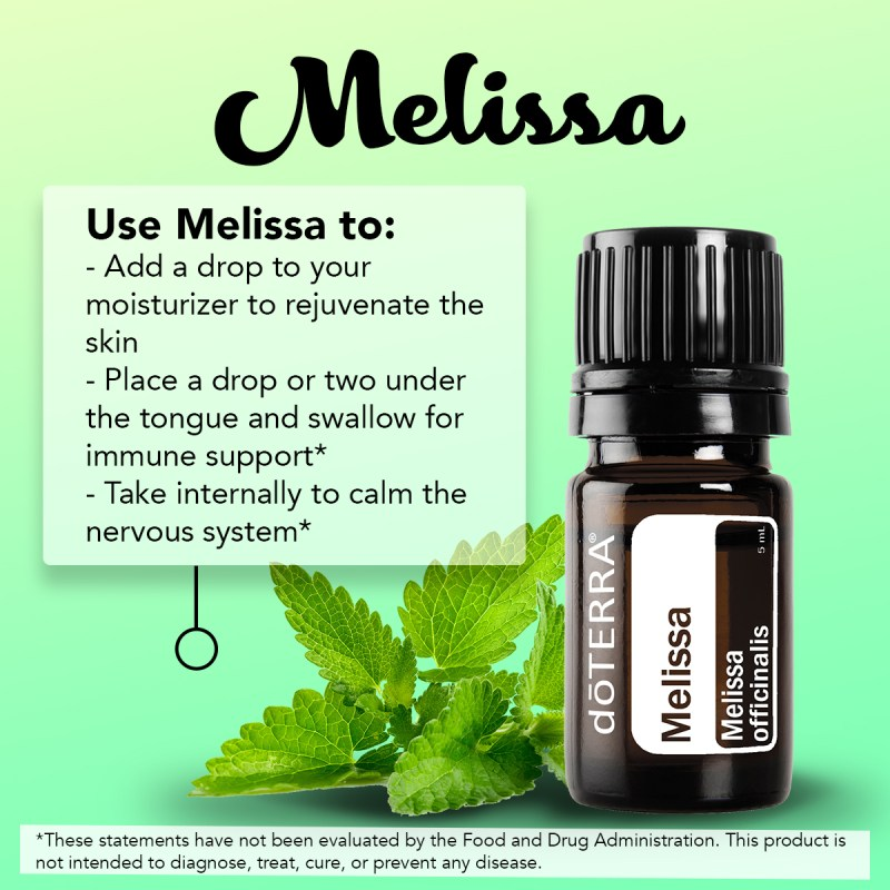 doterra melissa essential oil usage tips
