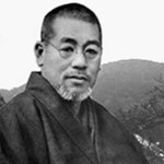 Explicarea instructiunilor pentru public de catre Mikao Usui, fondatorul Usui Reiki Ryoho