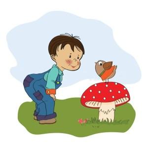reiki-littleboy-talk-with-funny-bird