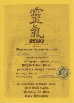 1,2 и 2 расширенная ступень Тибет Рейки