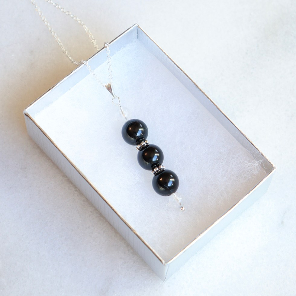 reiki charged black tourmaline bead
