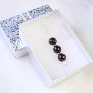 reiki charged garnet bead