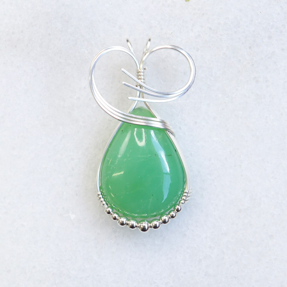 reiki charged chrysoprase pendant