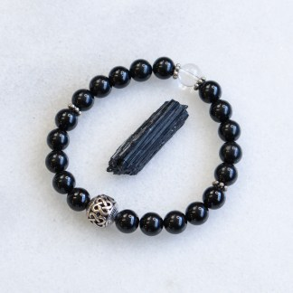 reiki charged black tourmaline bracelet