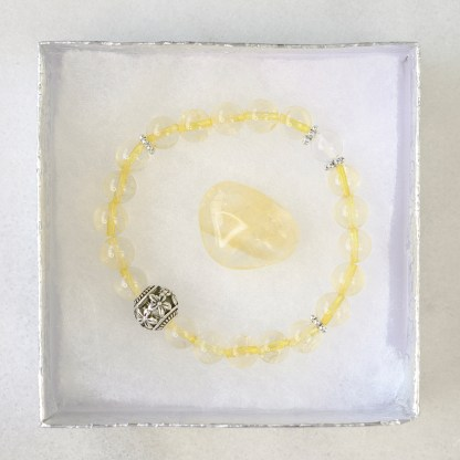 reiki charged citrine bracelet
