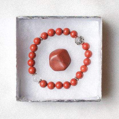 reiki charged red jasper bracelet