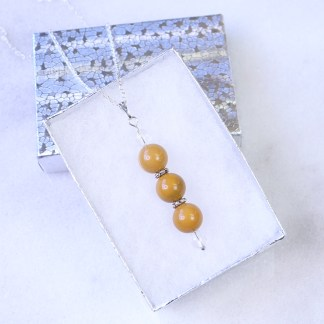 reiki charged yellow jasper bead