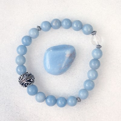 reiki charged angelite bracelet