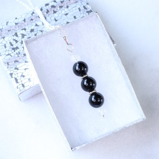 reiki charged onyx bead