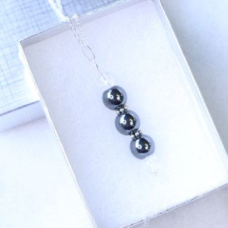 reiki charged hematite bead