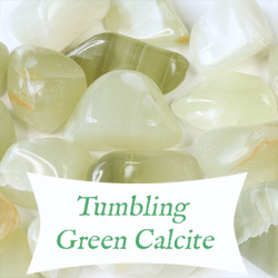 tumbling green calcite